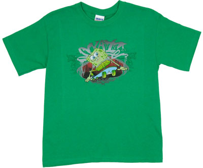 Skateboarding - Spongebob Squarepants Boys T-shirt