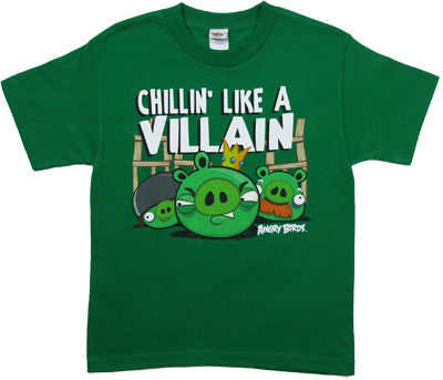 Chillin' Like A Villain - Angry Birds Youth T-shirt