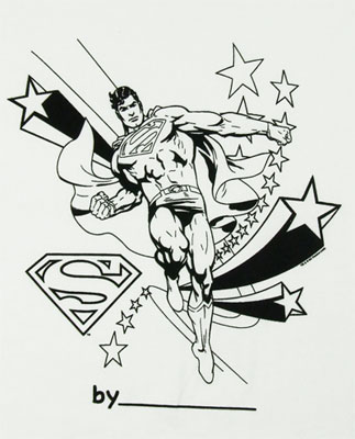 Superman - DC Comics Color My Tee T-shirt