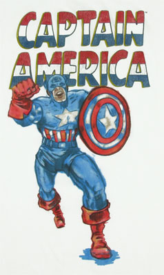 Captain America Watercolor - Marvel Comics T-shirt