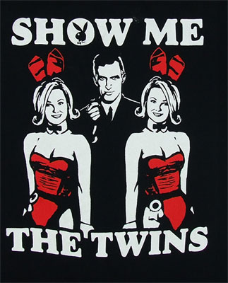 Show Me The Twins - Playboy Sheer T-shirt
