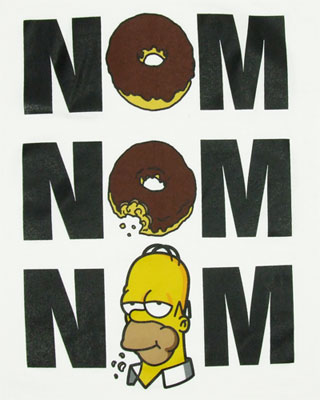 Nom Nom Nom - Homer - Simpsons T-shirt