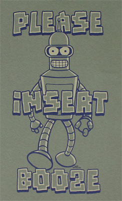 Please Insert Booze - Futurama T-shirt