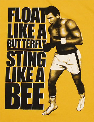 Float Like A Butterfly Sting Like A Bee - Muhammed Ali Sheer T-shirt