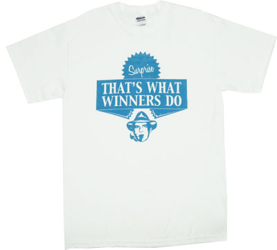 Charlie Sheen Thats What Winners Do Mens Tee