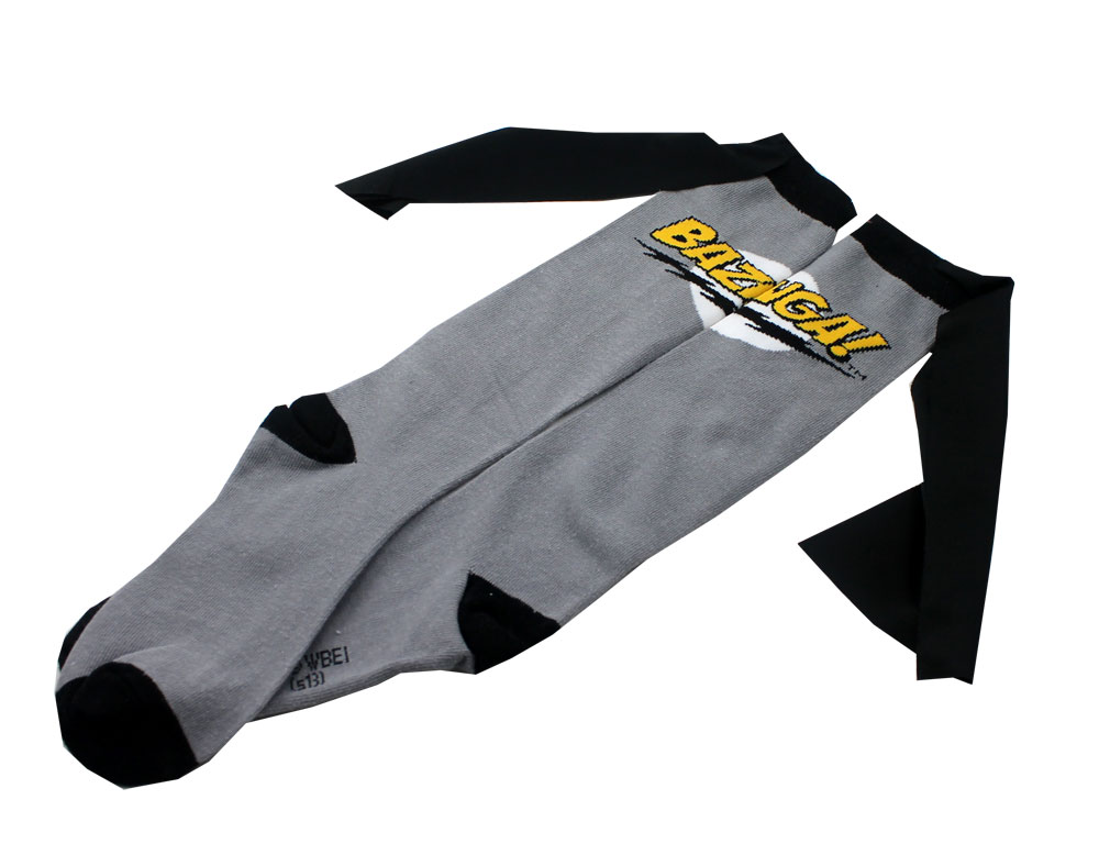 Gray Bazinga - Big Bang Theory Caped Socks
