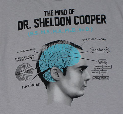 The Mind Of Dr. Sheldon Cooper - Big Bang Theory T-shirt