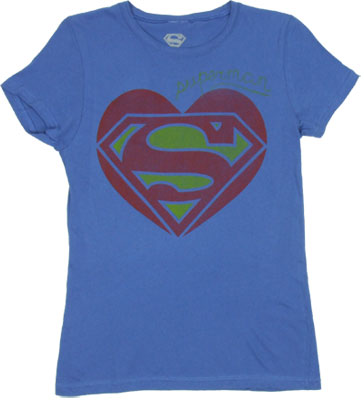 Superman Heart - DC Comics Sheer Women's T-shirt