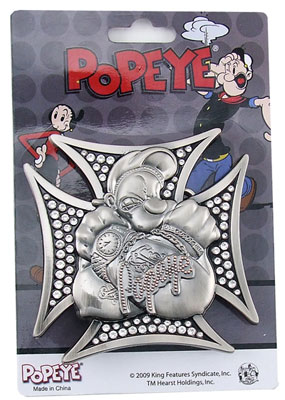 Crossed Arms - Popeye Belt Buckle