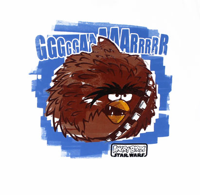 Angry Chewbacca Bird - Angry Birds Star Wars T-shirt