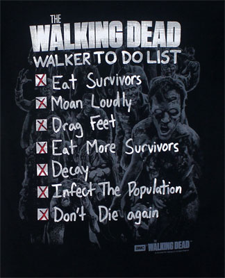 Walker To Do List - Walking Dead T-shirt