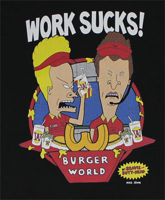 Work Sucks - Beavis And Butthead T-shirt
