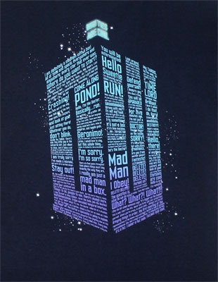 Logo Of Words - Dr. Who T-shirt