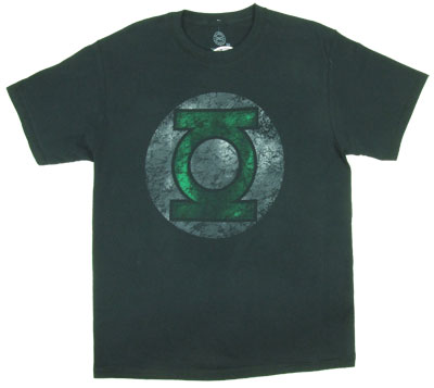 Faded Green Lantern Logo - DC Comics T-shirt