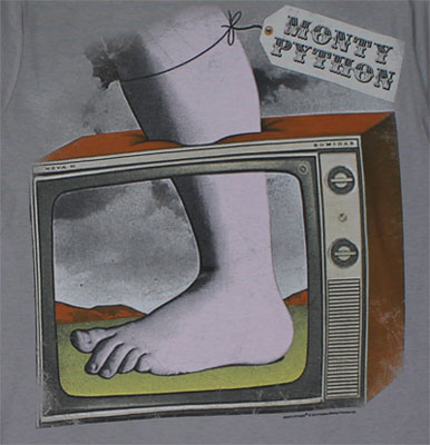 TV and Foot Logo - Monty Python T-shirt