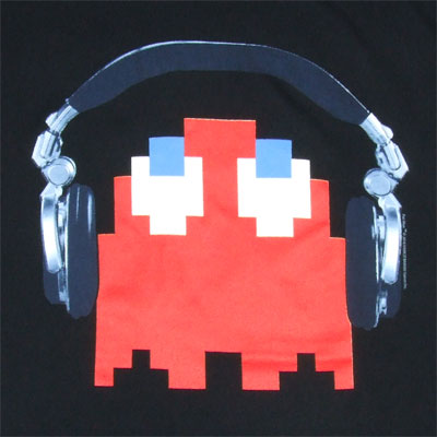 Ghost With Headphones - Pac-Man T-shirt