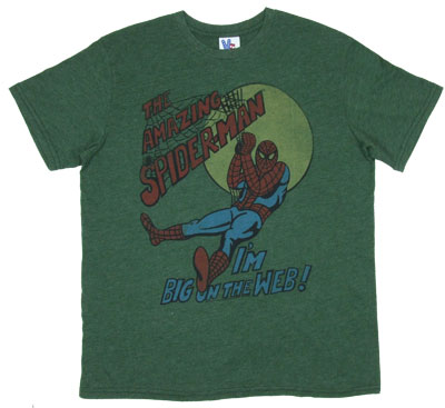 I&#039;m Big On The Web - Spider-Man - Junk Food Men&#039;s T-shirt