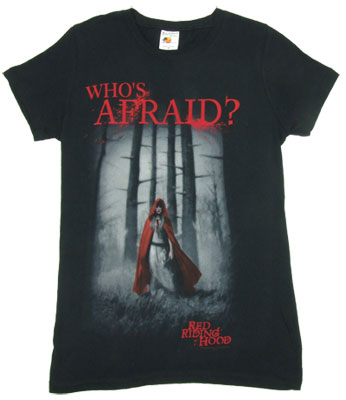 Who's Afraid? - Red Riding Hood Sheer Women's T-shirt