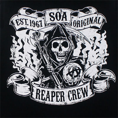 Reaper Crew Smoke And Banners - Sons Of Anarchy Muscle Tee