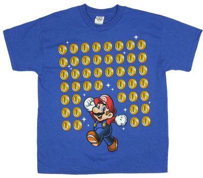 Mario With Coins - Nintendo Boys T-shirt