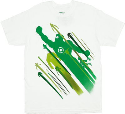 Green Silhouettes - DC Comics T-shirt