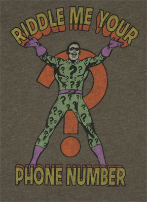 Riddle Me Your Phone Number - Junk Food Men's T-shirt