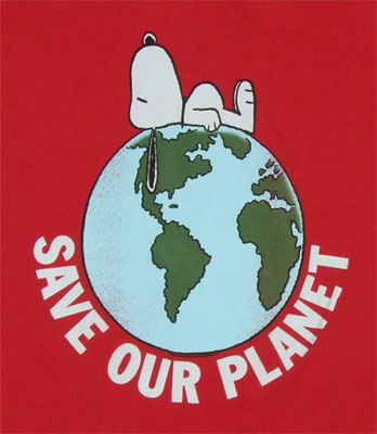 Save Our Planet - Snoopy - Peanuts Sheer T-shirt