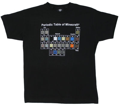 Periodic Table Of Minecraft - Minecraft Youth T-shirt