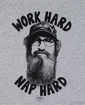 Work Hard Nap Hard - Duck Dynasty Youth T-shirt