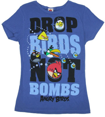 Drop Birds Not Bombs - Angry Birds Sheer Women's T-shirt