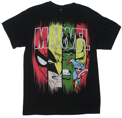 Panels - Marvel Comics T-shirt