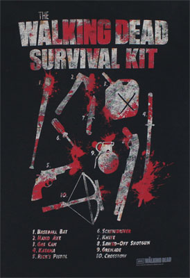 Walking Dead Survival Kit - Walking Dead T-shirt