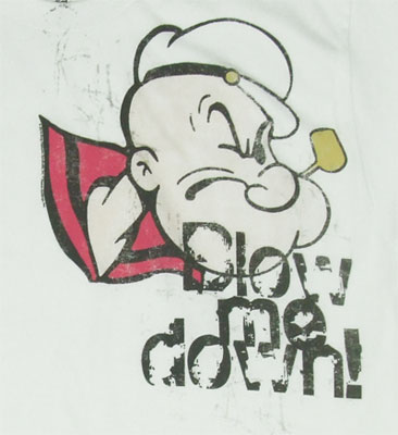 Blow Me Down - Popeye Sheer T-shirt