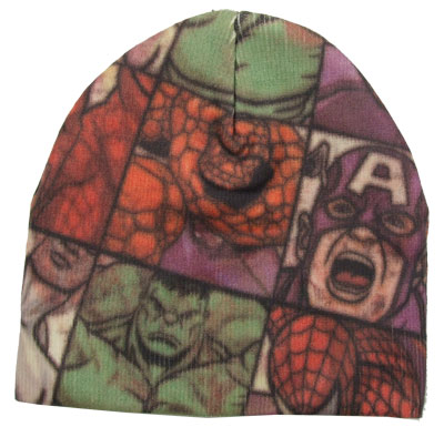 Boxed Superheroes - Marvel Comics Knit Hat