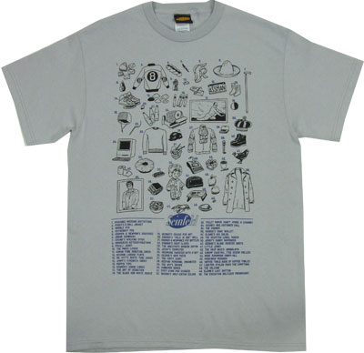 Fifty References - Seinfeld T-shirt