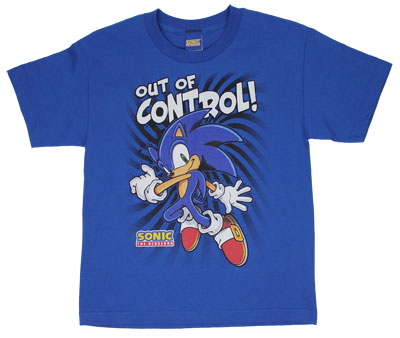 Out Of Control! - Sonic The Hedgehog Youth T-shirt