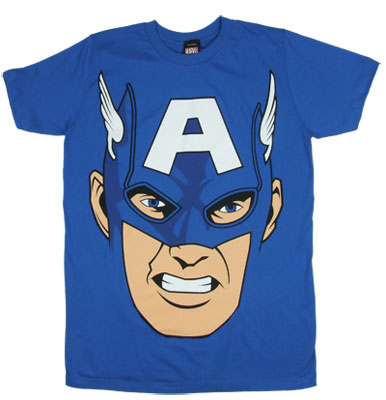 Captain America Face - Marvel Comics Sheer T-shirt