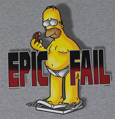 Epic Fail - Homer - Simpsons T-shirt