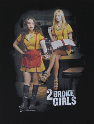 Max And Caroline - Two Broke Girls T-shirt