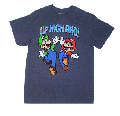 Mario And Luigi Up High Bro - Nintendo T-shirt