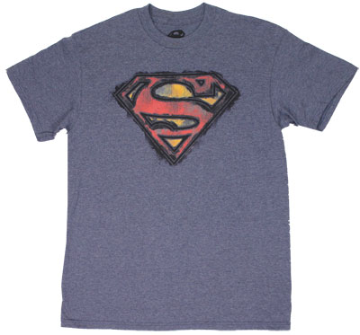 Smudged Superman Logo - DC Comics T-shirt