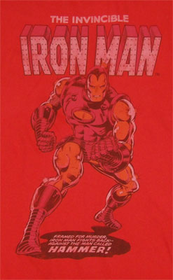 Iron Cover - Marvel Comics T-shirt