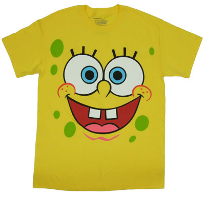 Spongebob Face - Spongebob Squarepants T-shirt