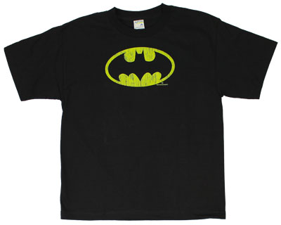 Distressed Batman Logo - DC Comics Youth T-shirt