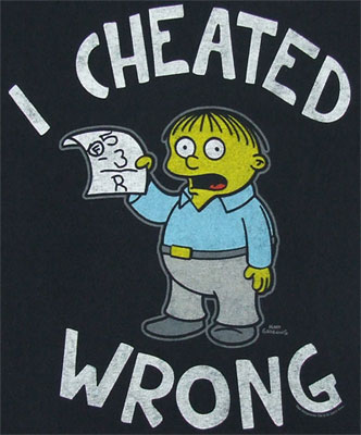 I Cheated Wrong - Simpsons T-shirt