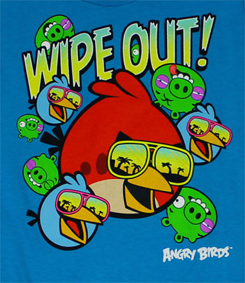 Wipe Out! - Angry Birds Juvenile T-shirt