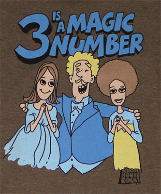 3 Is A Magic Number - Schoolhouse Rock Sheer T-shirt