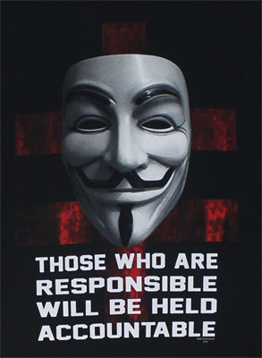 They Will Be Held Accountable - V For Vendetta T-shirt
