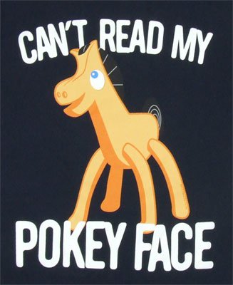 Can't Read My Pokey Face - Gumby Sheer Women's T-shirt