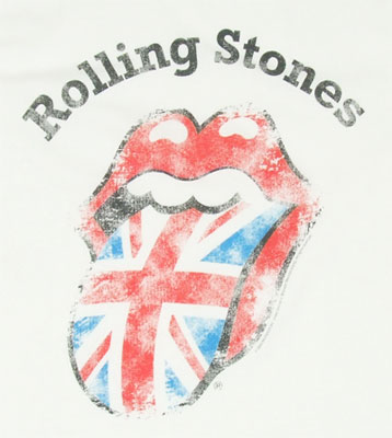 Distressed Union Jack Tongue - Rolling Stones T-shirt
